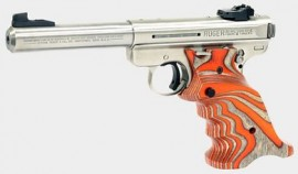 Volquartsen Ruger MK III Laminated Wood Grips - Orange